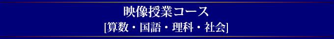 映像授業コース[算数・国語・理科・社会]